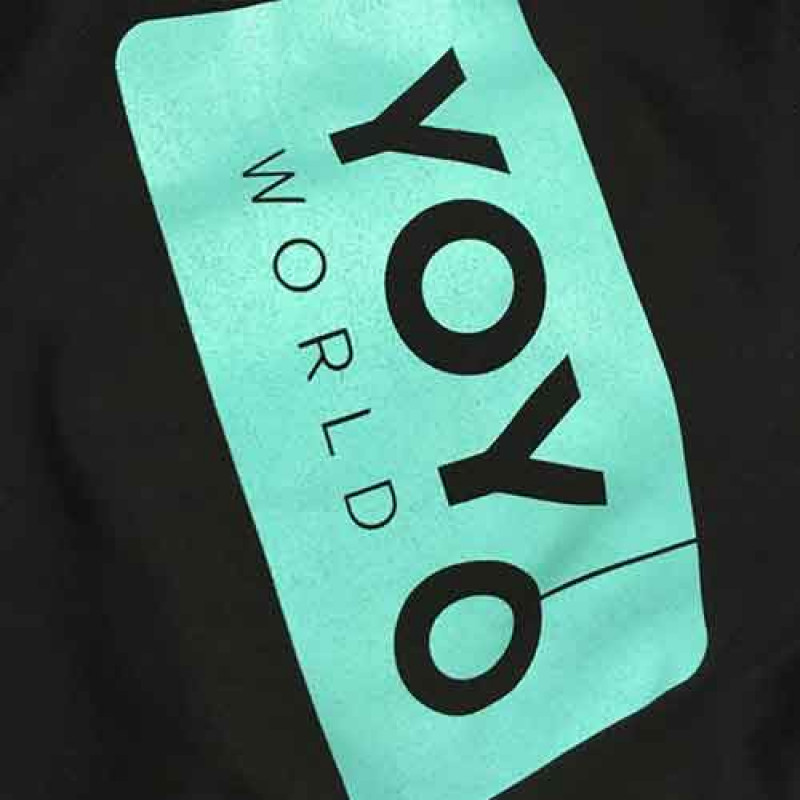 Team YoYoWorld T-shirt (unisex) - Sort / Turkis