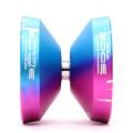 YoYoFactory Ko'olau Edge Pink / Blue w/ Silver Gap