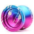 YoYoFactory Ko'olau Edge Pink / Blue w/ Silver
