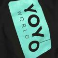 Team YoYoWorld Hoodie (unisex) - Sort / Turkis